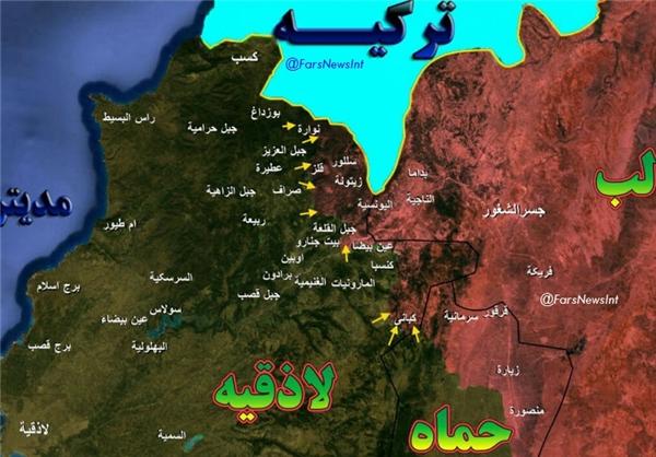مقاومت سرسختانه ارتش سوریه در شمال لاذقیه