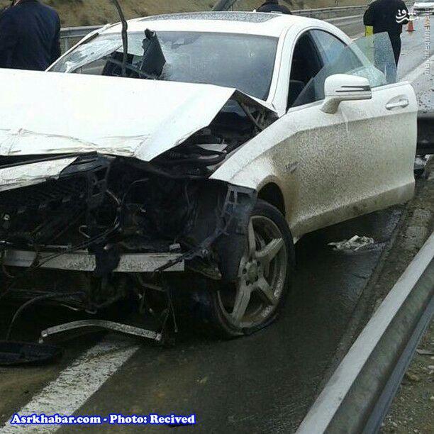 عکس/ تصادف سنگین بنز لوکس در ایران