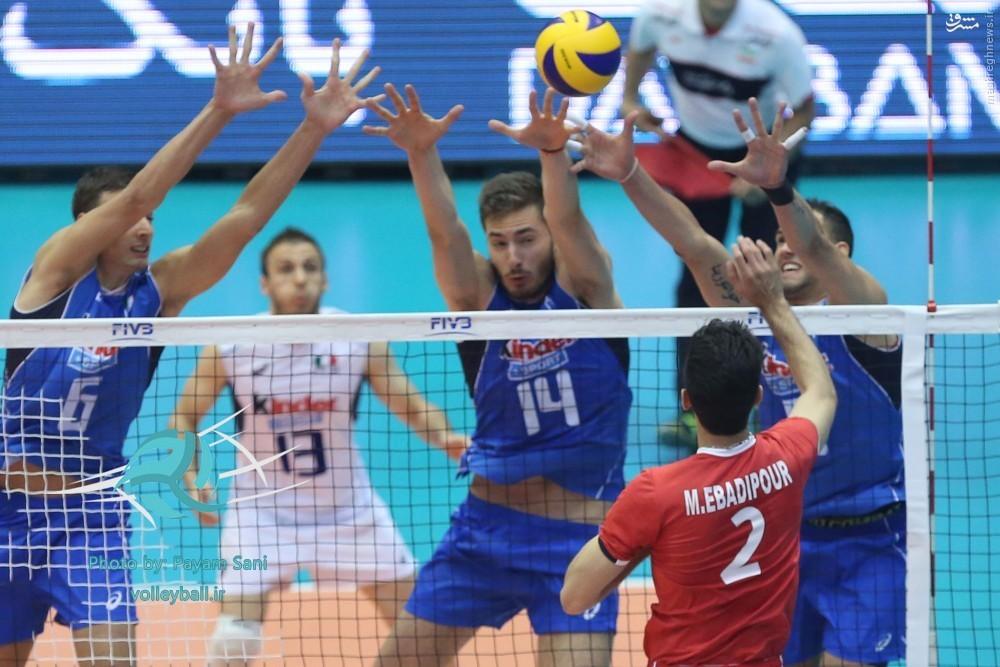 شکست والیبال ایران در برابر ایتالیا/ شاگردان لوزانو حرف زیادی برای گفتن نداشتند