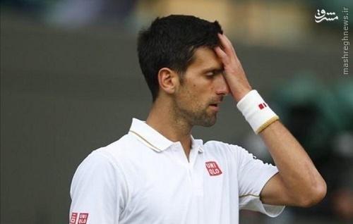 عکس/ افسوس مرد شماره یک تنیس جهان
