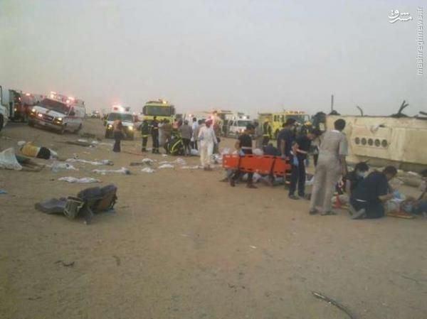 13کشته بر اثر واژگونی اتوبوس حجاج +عکس