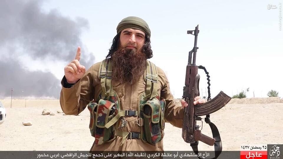 انتحاری جلاد معروف داعش در عراق+عکس