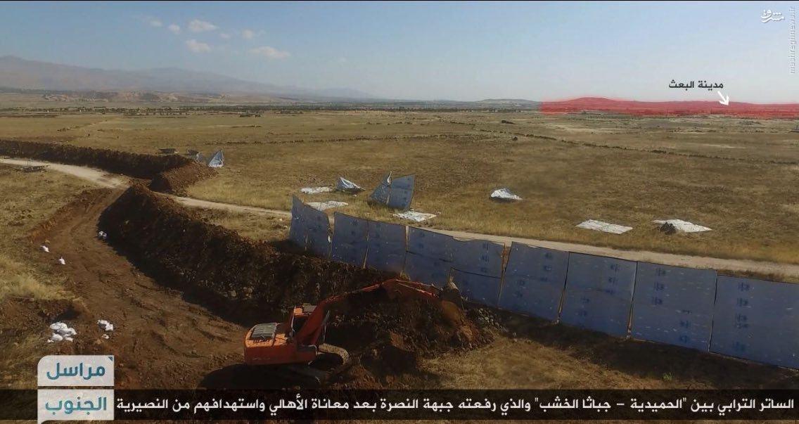 دیوار دفاعی القاعده علیه ارتش سوریه در مرز با اسراییل!+عکس