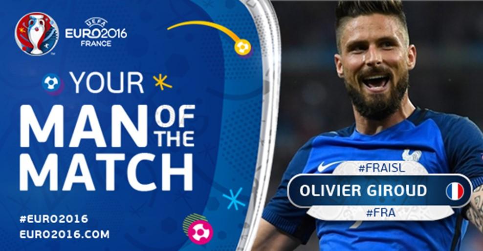 بهترین بازیکن دیدار فرانسه مقابل ایسلند +عکس