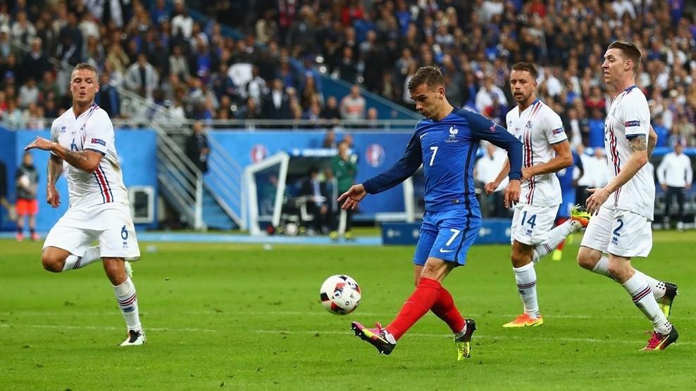 مهاجم فرانسه زننده صدمین گل یورو 2016