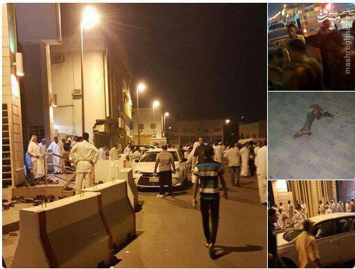 عکس/ انفجار تروریستی مقابل مسجد شهر شیعه نشین قطیف در عربستان