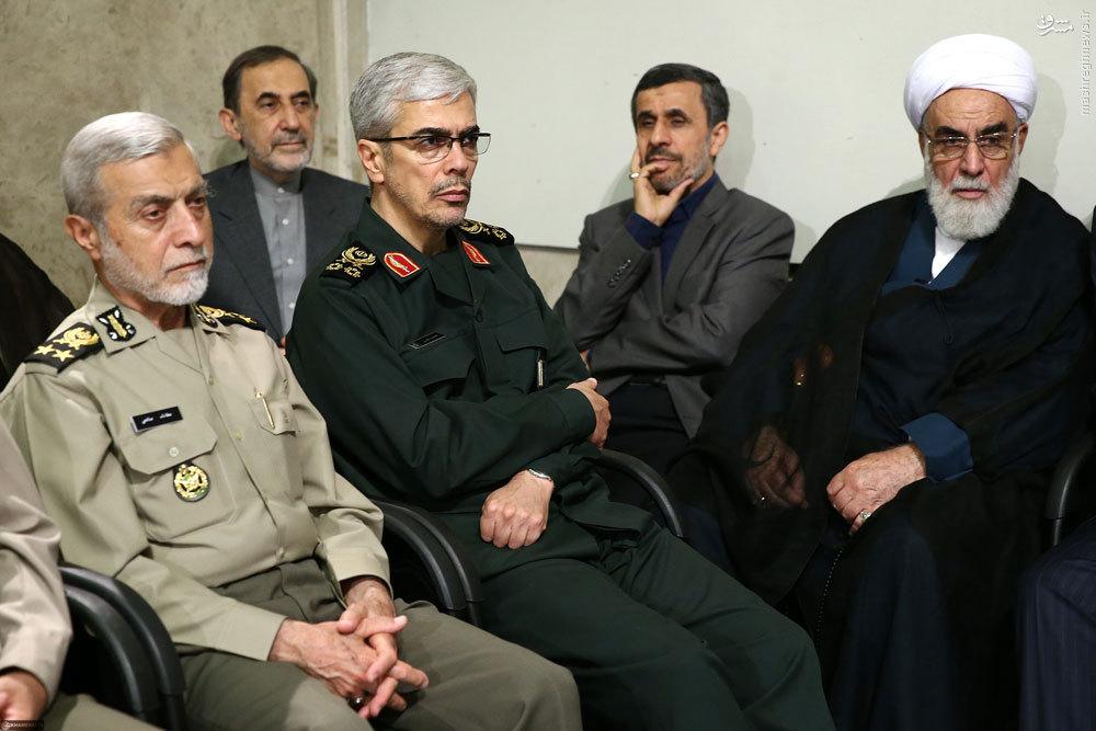 عکس/ پوششهای سرلشکر در مصلی و بیت رهبری
