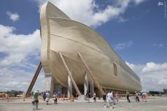 عکس/ رونمایی از کشتی حضرت نوح در آمریکا