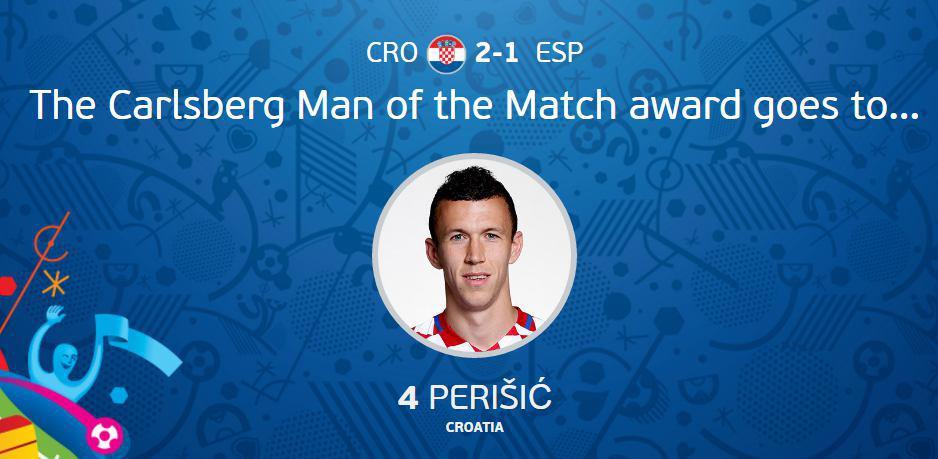 عکس/ بهترین بازیکن دیدار کرواسی مقابل اسپانیا