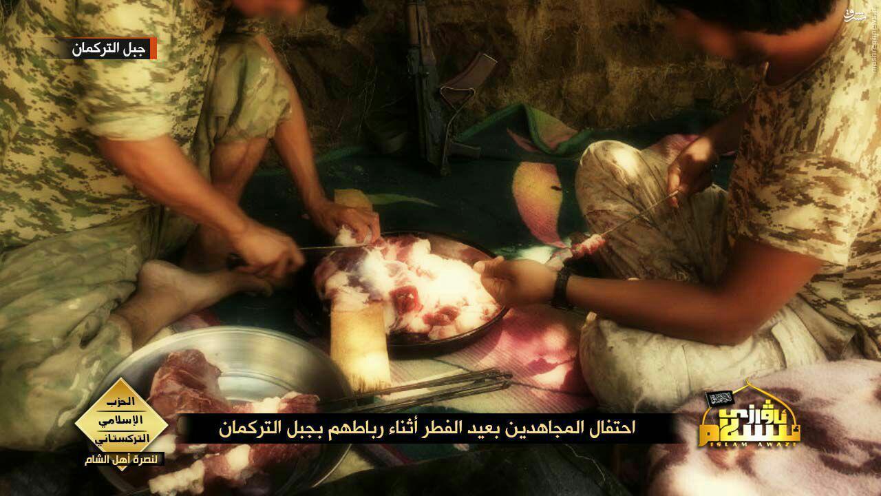 عیش و نوش تروریستهای چینی در لاذقیه سوریه+عکس