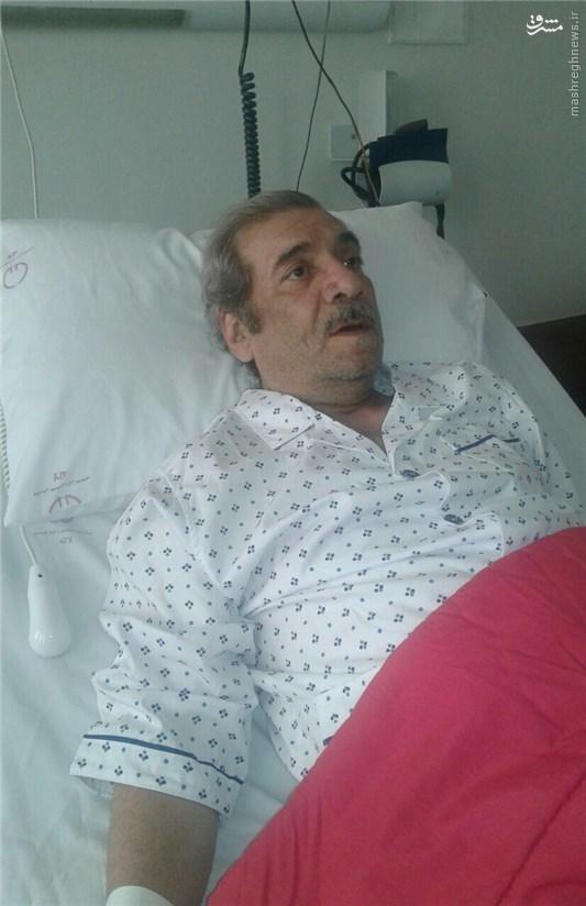 بازیگر معروف در بیمارستان بستری شد +عکس