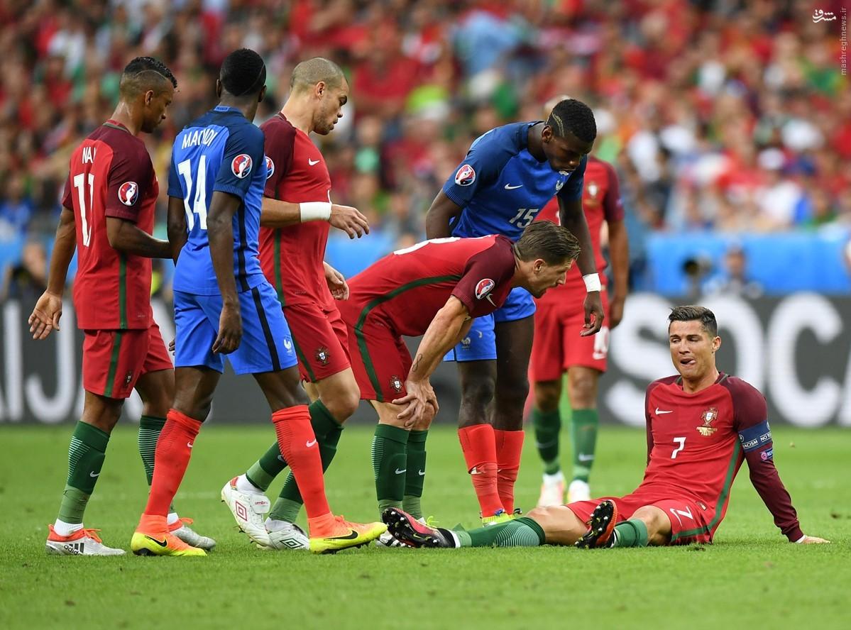 پرتغال با شکست فرانسه قهرمان شد/ شب تلخ و شیرین رونالدو
