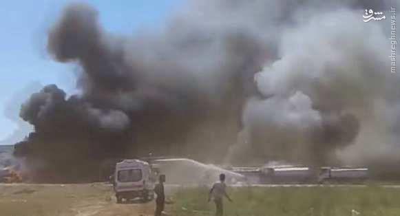 انهدام کاروان سوخت داعش در شمال سوریه+فیلم و عکس