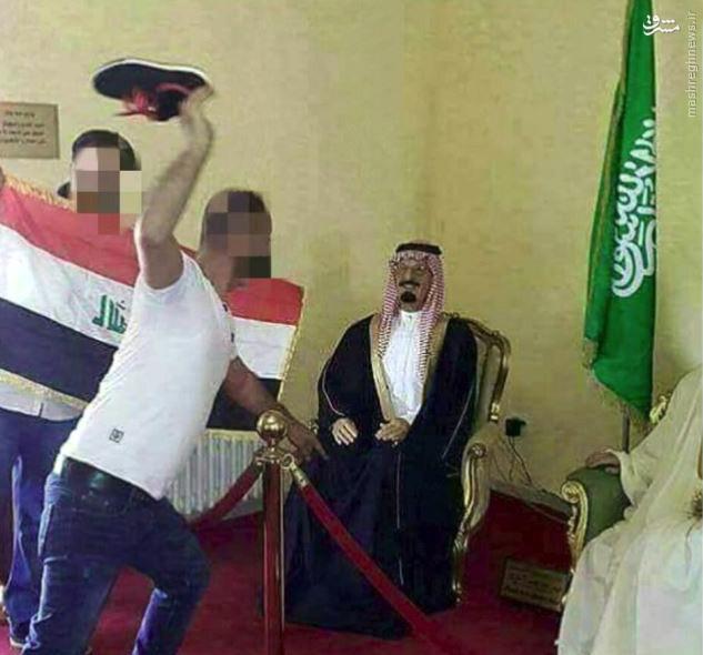 عکس/ استقبال از ملک عبدالله با لنگه کفش