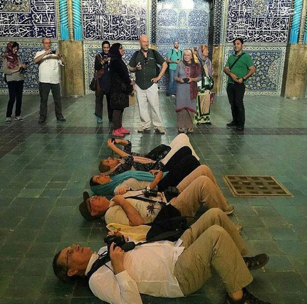 عکس/ عکاسی توریستها در اصفهان