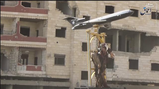 سقوط هواپیمای جنگی سوریه+عکس