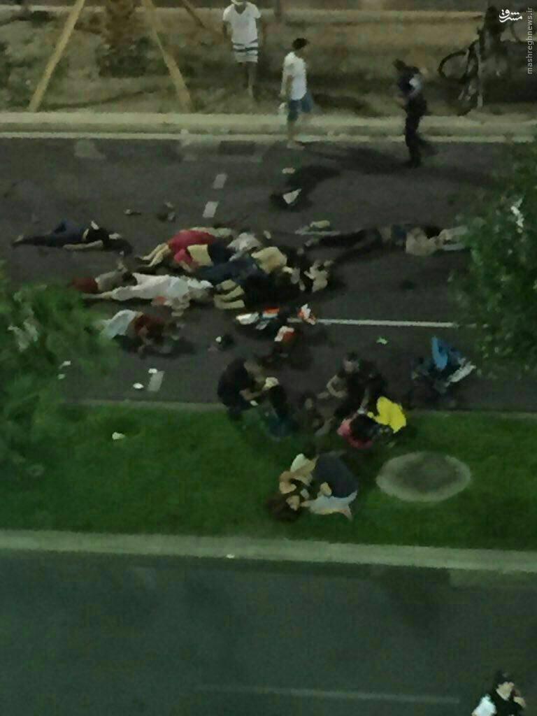 اولين تصاوير از تلفات انساني حمله در شهر نيس فرانسه