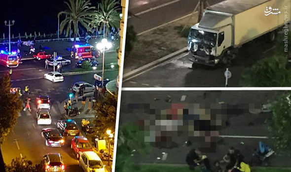 دهها کشته و زخمی در حمله تروریستی در فرانسه +تصاویر
