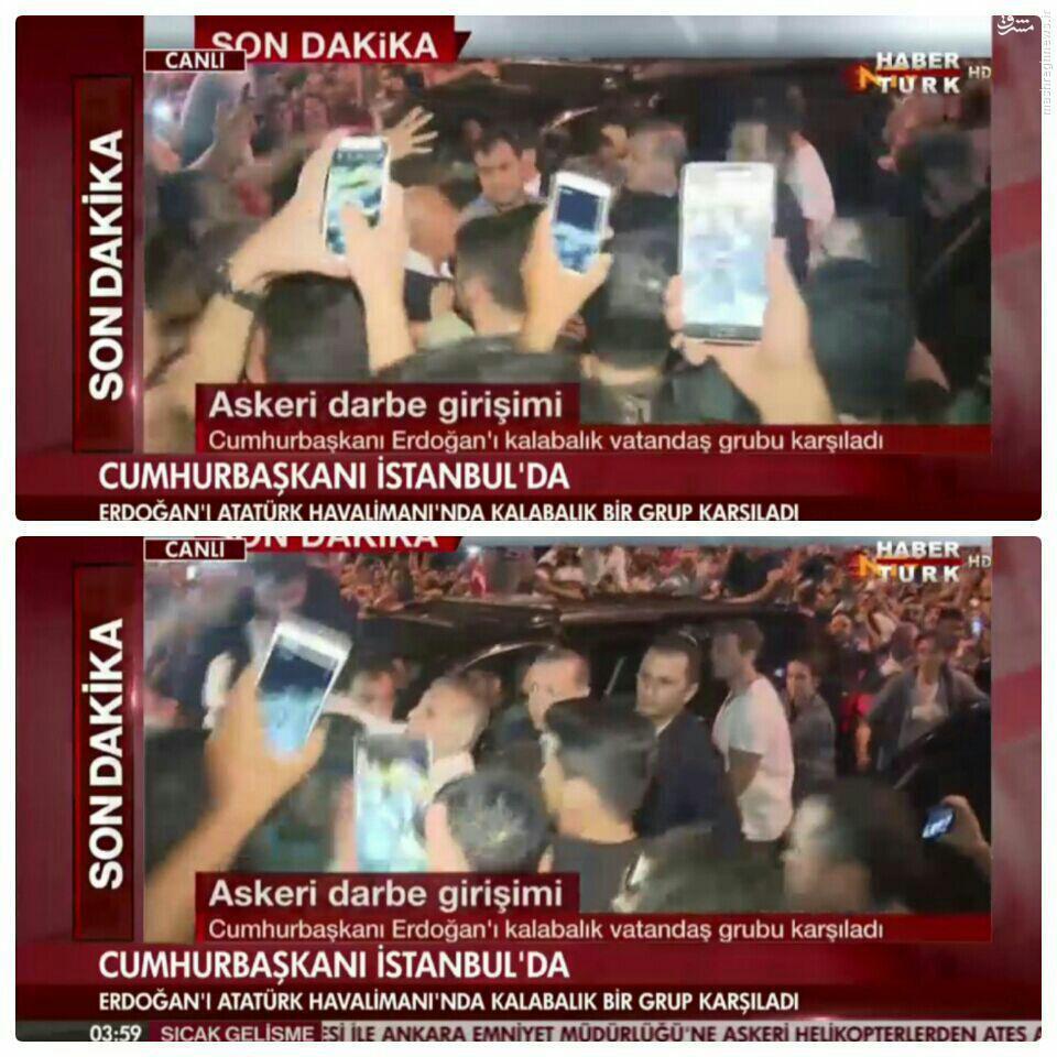 عکس/ اردوغان در فرودگاه آتاتورک