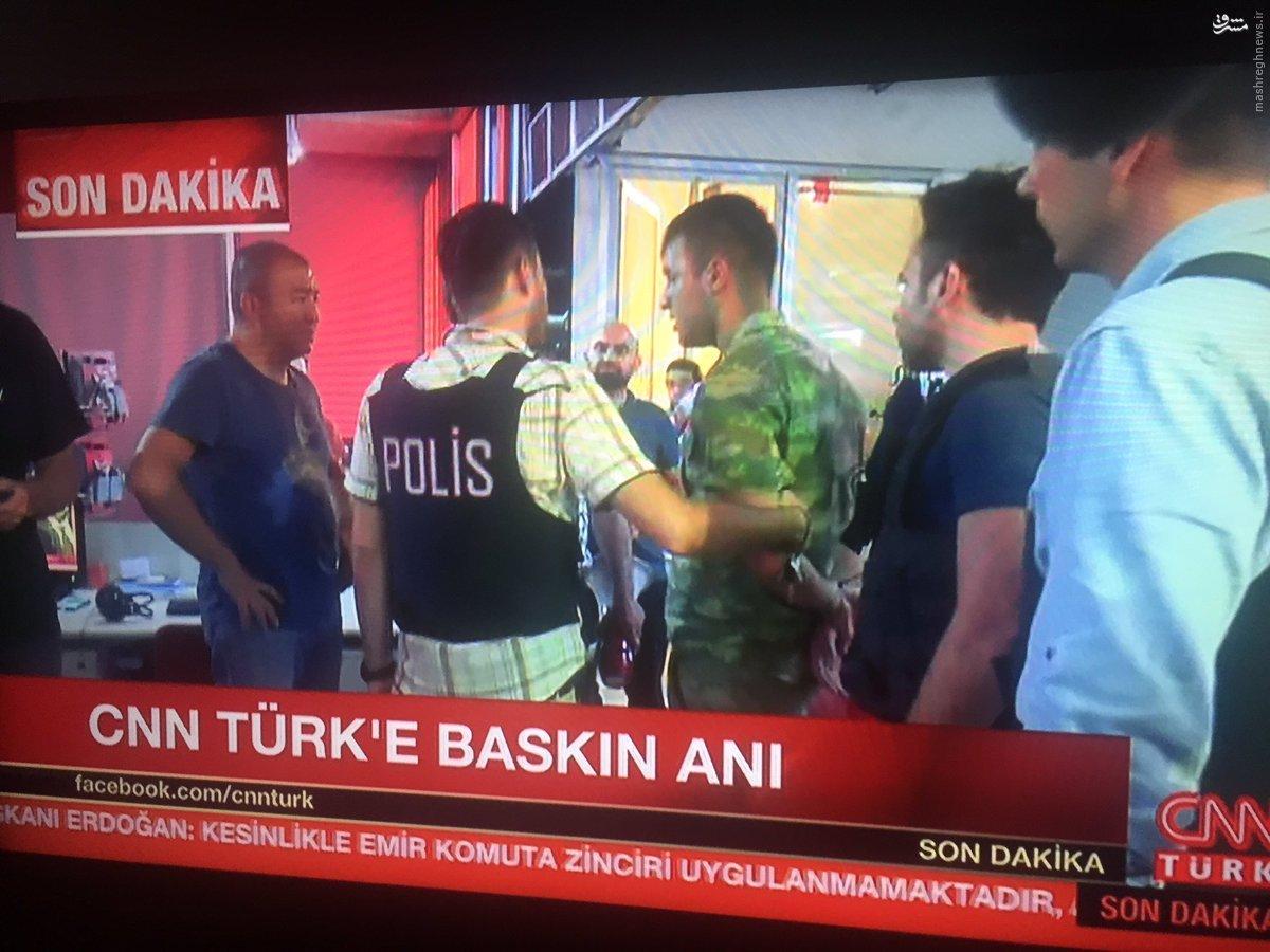 فیلم/درگیری میان پلیس و ارتش ترکیه در رادیوی ملی