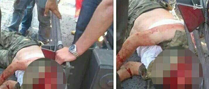 ذبح سرباز ارتش ترکیه توسط حامیان اردوغان!+عکس