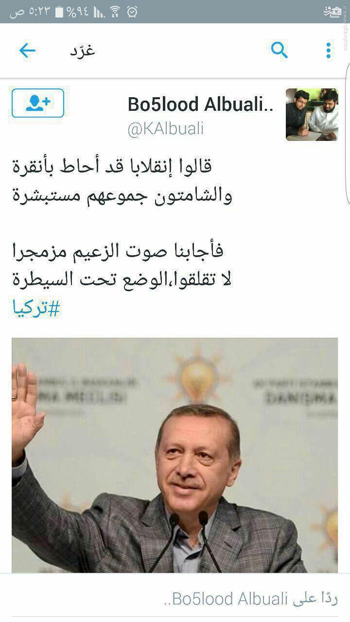 حمایت قاطع تروریستهای القاعده از اردوغان+عکس