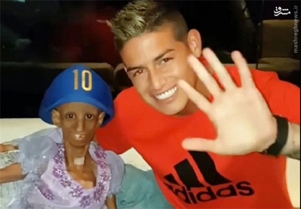 ستاره رئال مادرید با دختری عجیب دیدار کرد +عکس