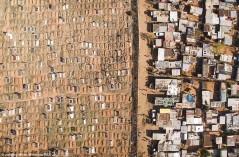 عکس/ یک خیابان فاصله بین فقیر و غنی