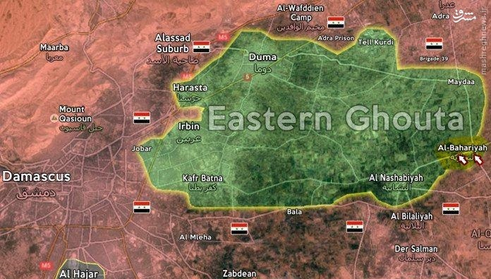 عملیات معکوس داعش در رقه/حمله شیمیایی داعش به نظامیان سوری/پیشروی ارتش سوریه در غوطه شرقیه/تلاش داعش برای شکستن محاصره منبج/ادامه نبردها در جنوب حلب