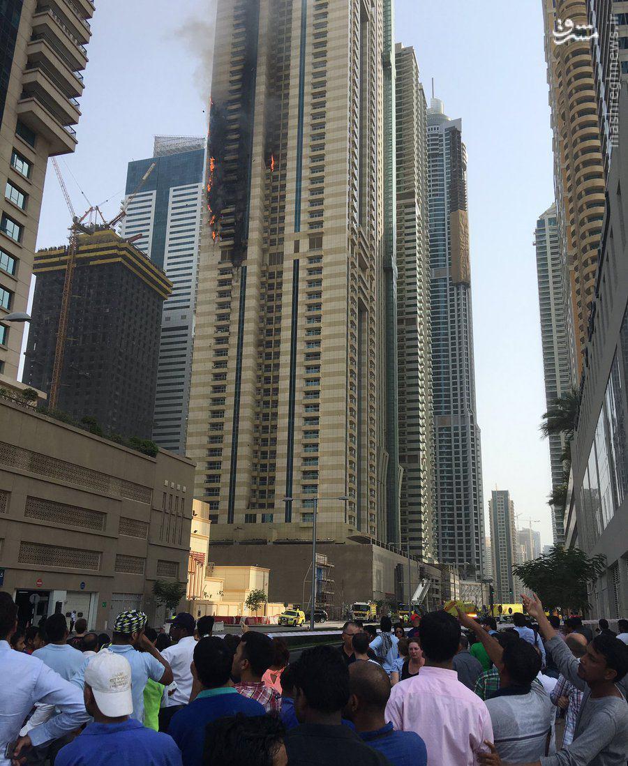 عکس/ اتش سوزی در دبی