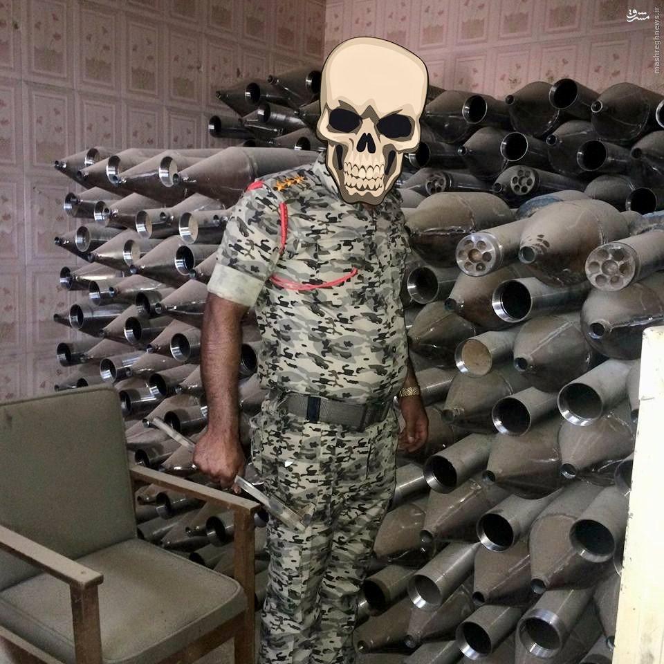 خانه های اهالی فلوجه انبار مهمات و سلاح داعش+عکس