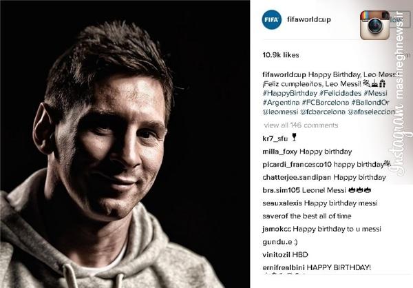 تبریک فیفا به لیونل مسی +عکس