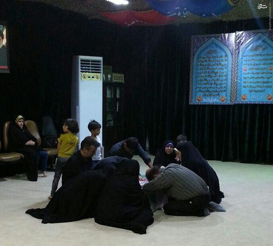 وداع با پیکر شهید مدافع حرم عباس آبیاری+عکس