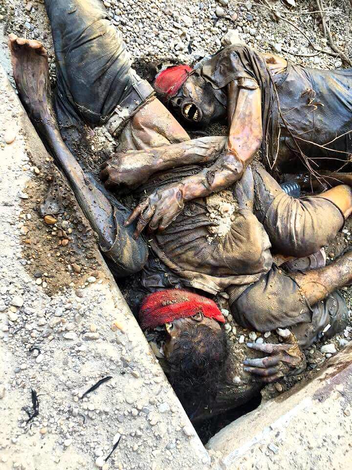 زنده بگور شدن زندانیان توسط داعش+عکس