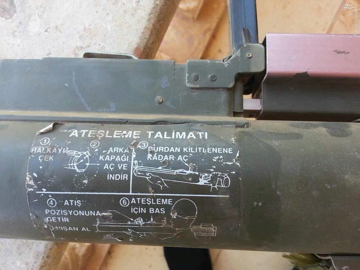کشف تسلیحات ترکیه از مقرهای داعش در منبج+عکس