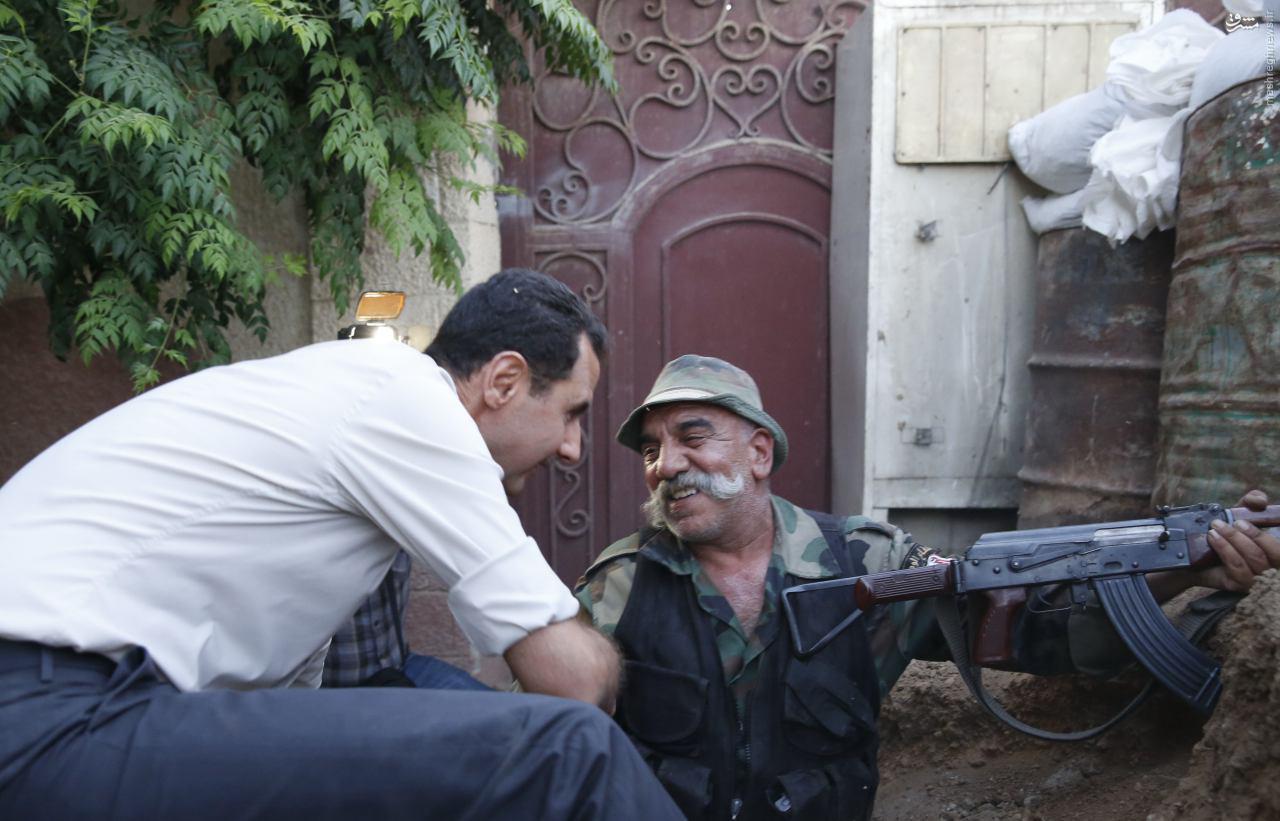 حضور بشار اسد در خط مقدم جبهه+عکس