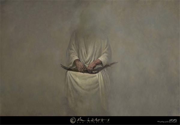 تابلویی از قاهرالعدو بودن حضرت علی(ع) +عکس
