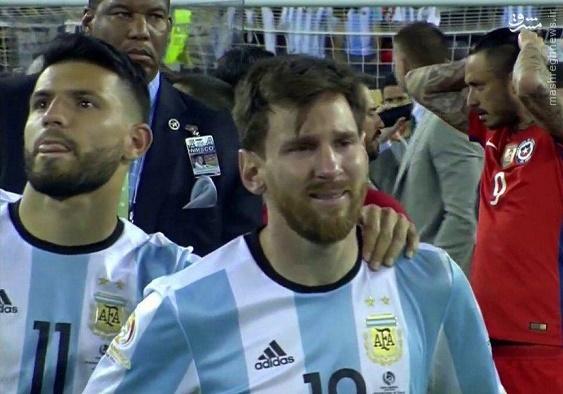 عکس/ گریه مسی پس از ناکامی در فینال