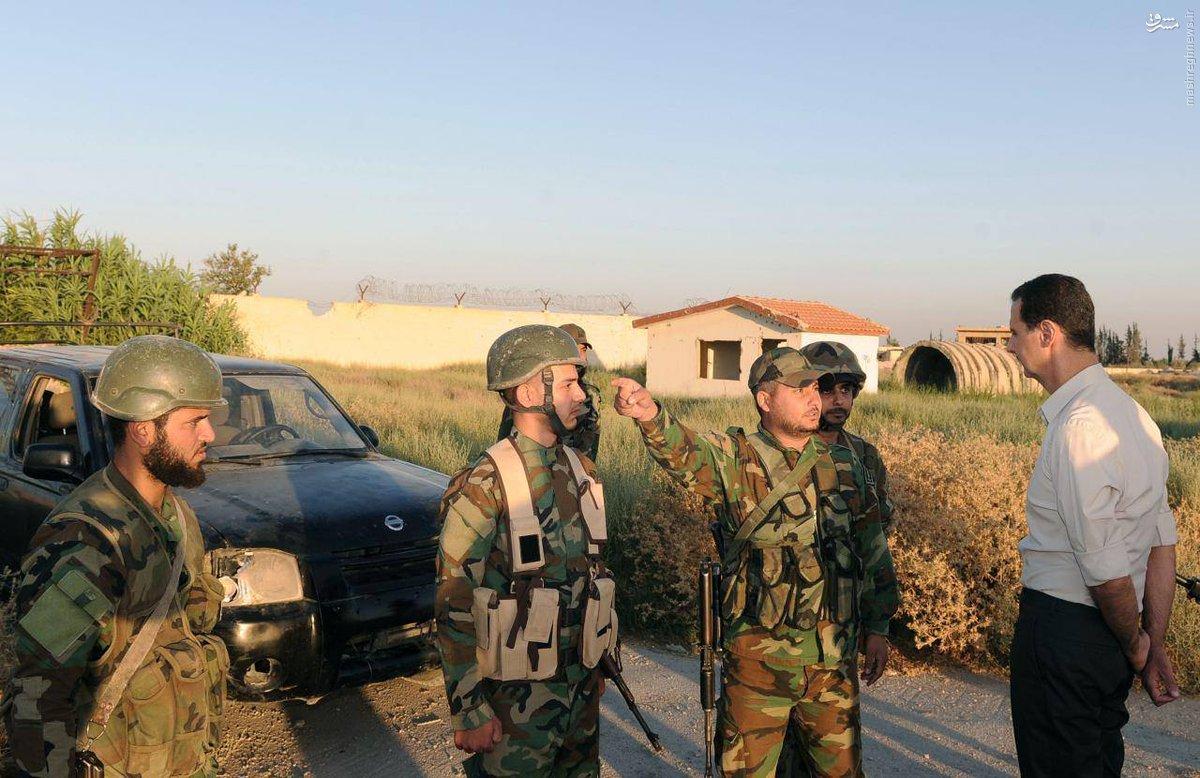 هدف حمله موشکی شب گذشته ترور بشار اسد بود+عکس