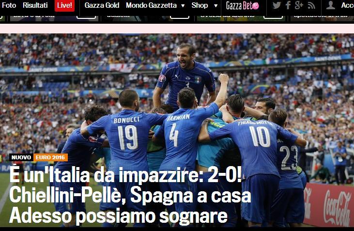 عکس/ واکنش رسانههای ایتالیا به صعود آتزوری