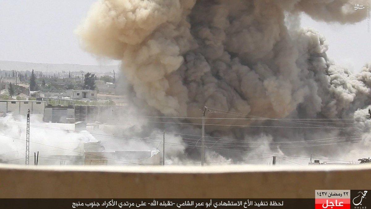 انتحاری داعش علیه کردها در شمال سوریه+عکس