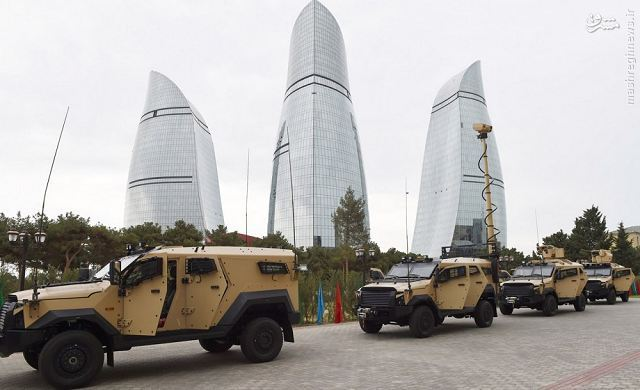 عکس/ تسلیحات اسراییل در جمهوری آذربایجان