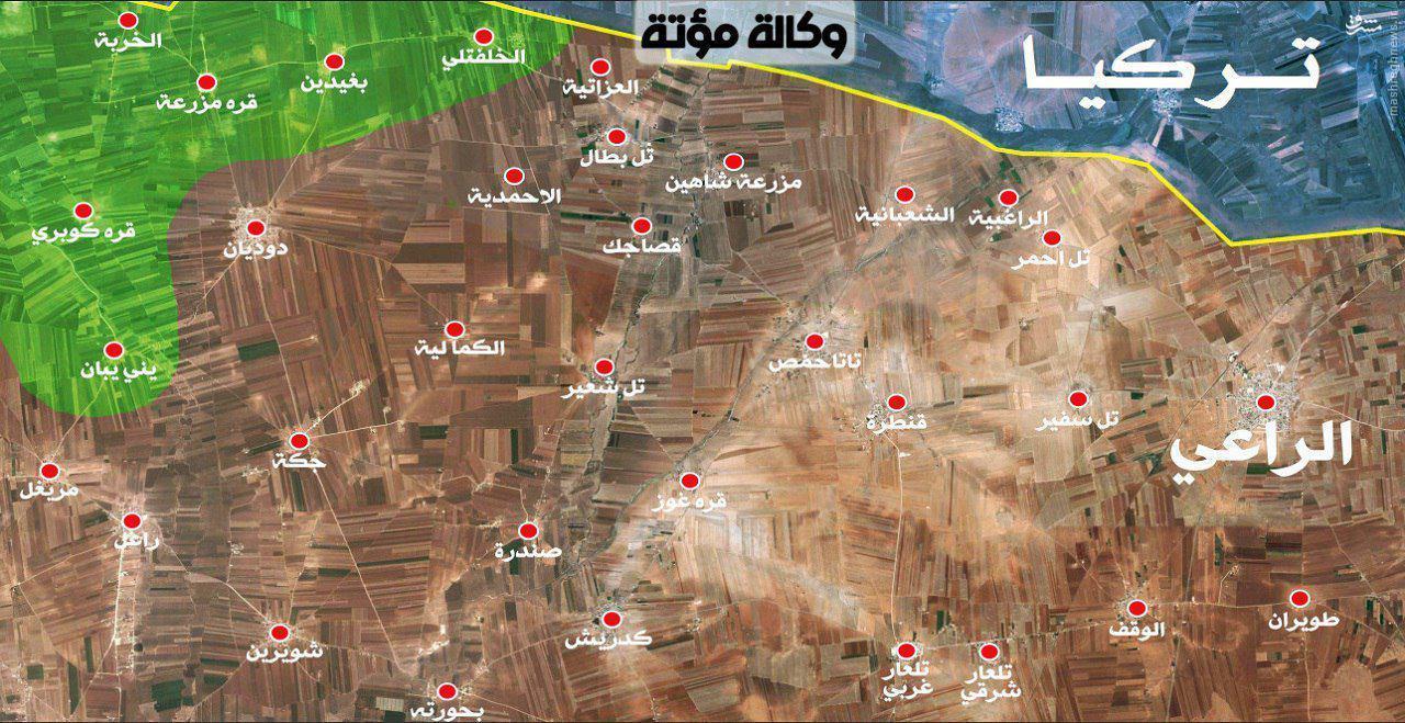 پیشروی کوبنده ارتش در شمال حلب/هجوم ناکام تروریستهای چینی به شمال لاذقیه/ادامه نبردها در غوطه شرقیه/تداوم درگیری ها در منبج/آماده انتشار