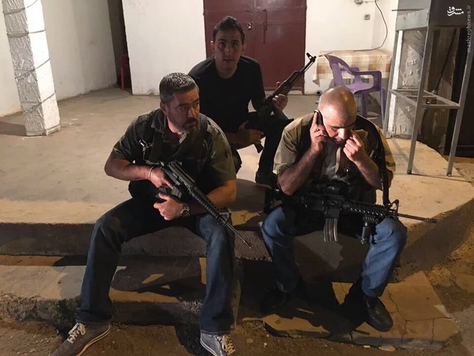 عکس/گشت شبانه مسیحیان لبنان در القاع