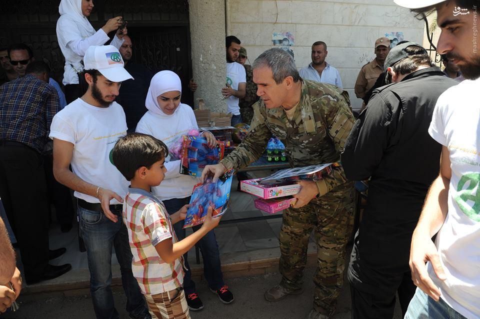 عکس/کمک های انسانی رئیس جمهور چچن به مردم دمشق