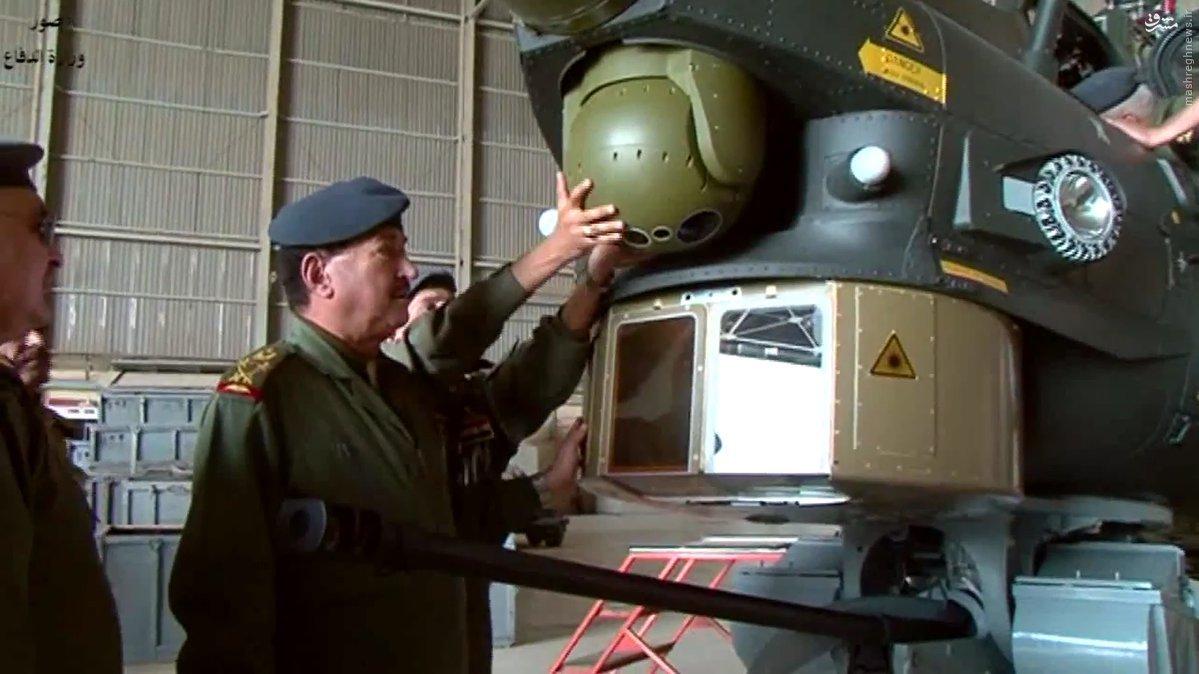 تحویل 4 بالگرد میل 28 به ارتش عراق+عکس