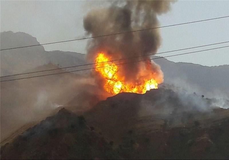 انفجار خطوط لوله پلیاتیلن در منطقه پلدختر +عکس