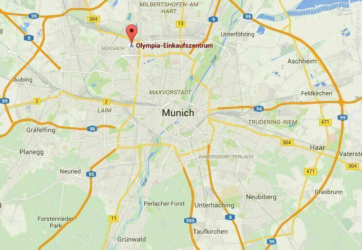 لحظه آغاز تیراندازی در مونیخ آلمان+فیلم و عکس