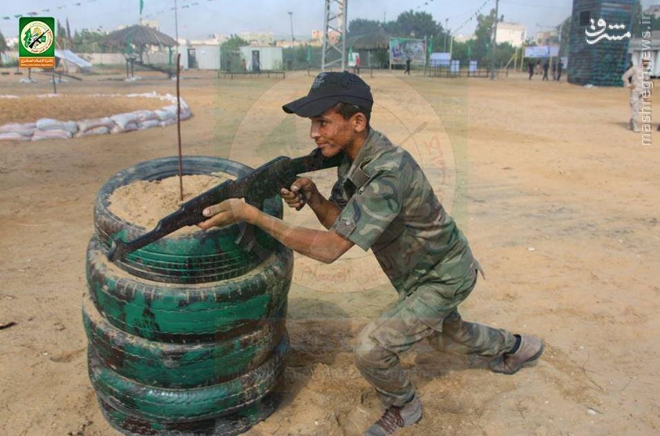 نمایشگاه و آموزشگاه نظامی بزرگ حماس در نوار غزه