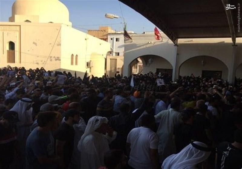 مراسم تشییع پیکر شهید بحرینی +عکس